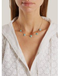 Jacquie Aiche - Blue Diamond, Turquoise & Yellow-gold Necklace - Lyst