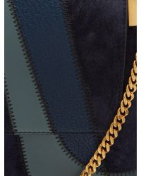 Chloé - Blue Faye Medium Patchwork Leather Shoulder Bag - Lyst