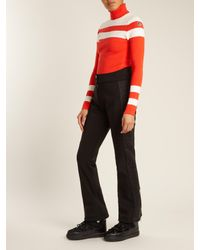 Fusalp - Orange Stripe Roll-neck Intarsia-knit Performance Sweater - Lyst