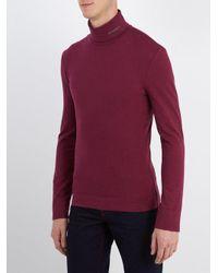 CALVIN KLEIN 205W39NYC - Purple Roll-neck Cotton-jersey Sweater for Men - Lyst