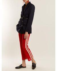 Étoile Isabel Marant - Red Dobbs Stripe Trimmed Track Pants - Lyst