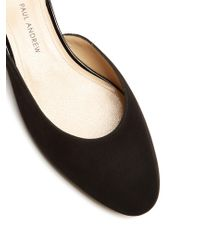 Paul Andrew - Black Alba Suede Backless Loafer - Lyst