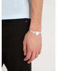 Maison Margiela - Metallic Number Engraved Two Tone Silver Bracelet for Men - Lyst
