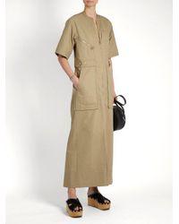 Isabel Marant - Natural Toby Cotton-twill Maxi Dress - Lyst