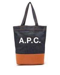 A.P.C. - Multicolor Axel Tote Bag - Lyst