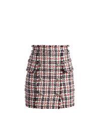 Balmain - Multicolor High Waisted Mini Skirt - Lyst