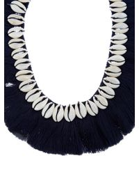 Figue | Blue Shell And Tassel Necklace | Lyst