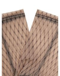 Darner - Multicolor Fishnet-print Mesh Ankle Socks - Lyst