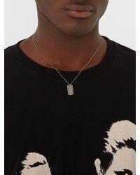Saint Laurent - Metallic Logo-debossed Pendant Necklace for Men - Lyst