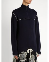 Chloé - Multicolor Half-zip Cashmere Sweater - Lyst