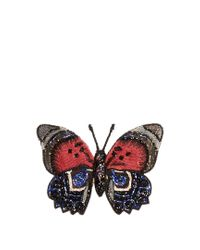 Dolce & Gabbana - Embroidered-butterfly Brooch - Lyst