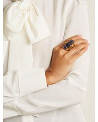 Etro - Multicolor Engraved Stone-embellished Ring - Lyst
