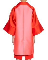 Antonio Berardi - Red Bi-colour Satin Evening Coat - Lyst