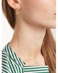 J.W. Anderson - Metallic Double-sphere Gold-plated Hoop Earrings - Lyst