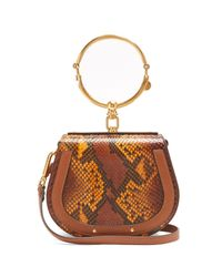 Chloé - Multicolor Nile Bracelet Small Python-effect Cross-body Bag - Lyst
