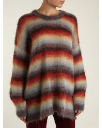 Chloé | Multicolor Oversized Striped Mohair-blend Knit Sweater | Lyst