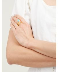 Aurelie Bidermann Metallic True Blue Gold Plated Ring