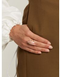 Jacquie Aiche - Pink Diamond, Rhodochrosite & Yellow-gold Ring - Lyst