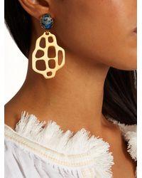 Marte Frisnes   Metallic Avalon Quartz And Gold-plated Earrings   Lyst