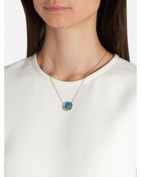 Noor Fares - Blue Diamond, Opal & Grey-gold Necklace - Lyst