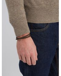 Tod's - Brown Braided Leather Bracelet for Men - Lyst
