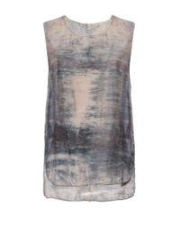 Raquel Allegra - Gray Sunset Tie-dye Silk Top - Lyst