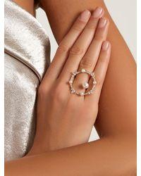 Anissa Kermiche - Metallic Diamond, Pearl & Yellow-gold Ring - Lyst