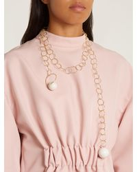 Marni - White Sphere-embellished Chain Necklace - Lyst