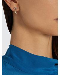 Ileana Makri - Multicolor Diamond, Sapphire & Yellow-gold Earring - Lyst