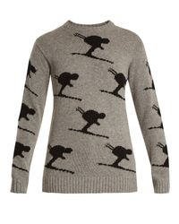 Fusalp - Gray - Carving Wool Blend Performance Sweater - Womens - Grey - Lyst