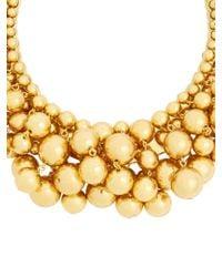 Oscar de la Renta - Metallic Sphere-embellished Necklace - Lyst