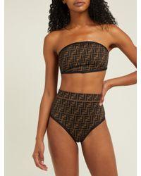 Fendi - Multicolor Ff High Rise Bikini Set - Lyst
