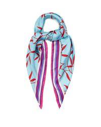 Diane von Furstenberg - Blue Shelton-print Silk Scarf - Lyst