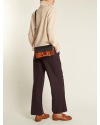 Chloé | Black Faye Small Suede And Leather Cross-body Bag | Lyst