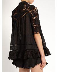 Zimmermann - Black Caravan Embroidered Cotton Top - Lyst