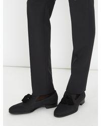 Jimmy Choo | Black Foxley Tassel-embellished Nubuck-leather Loafers for Men | Lyst
