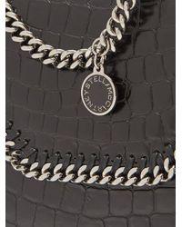 Stella McCartney - Black Falabella Box Mini Crocodile-effect Shoulder Bag - Lyst