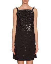OSMAN - Black Embellished Square-neck Dress - Lyst