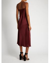 Ellery - Multicolor Tony Ruched-side Silk-satin Slip Dress - Lyst