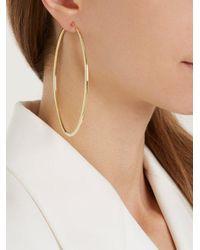 Fay Andrada - Metallic Ovaali Hoop Brass Earrings - Lyst