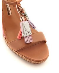 Sophia Webster - Multicolor Lucita Tassel-embellished Leather Wedge Sandals - Lyst