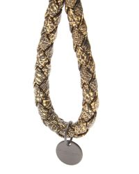 Bottega Veneta | Metallic Intrecciato Leather Knot Key Ring | Lyst