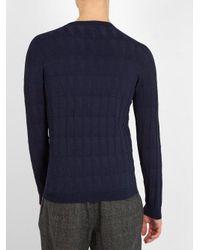 Giorgio Armani - Blue Crew-neck Sweater for Men - Lyst