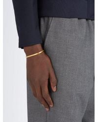 All_blues - Metallic Triangle Gold Plated Bracelet for Men - Lyst