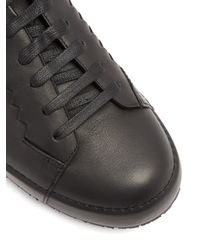 Bottega Veneta - Black Thibo Low-top Leather Trainers for Men - Lyst
