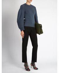Balenciaga - Black Cigarette-leg Wool Trousers - Lyst
