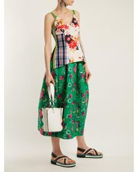Marni - Green Floral-brocade Gathered Midi Skirt - Lyst