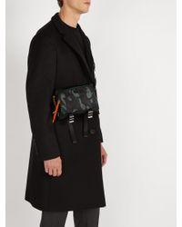 Prada - Black Camouflage Print Nylon Shoulder Bag for Men - Lyst