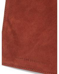 Want Les Essentiels De La Vie - Brown Pearson Suede Passport Holder - Lyst