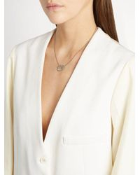 Susan Foster - Diamond Slice & White-gold Necklace - Lyst
